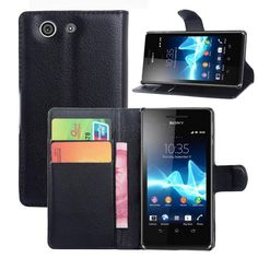 Luxury Wallet Flip Leather Stand Case Cover for Sony Xperia Z Z1 Z2 Z3 Z4 Z5 mini Compact M M2 M5 E3 E4 C3 with Card Holder