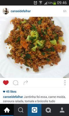 carne moida com legumes
