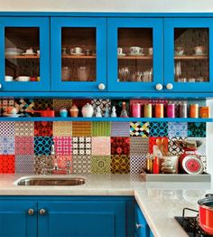 Cementine mon amour (I can't read the Italian on the page, but every one of these is my dream kitchen.)