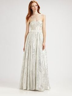 ShopStyle: Strapless Gown: Saks Fifth Avenue