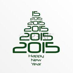 Feliz Año Nuevo 2015. Happy New Year. Foto de archivo.
