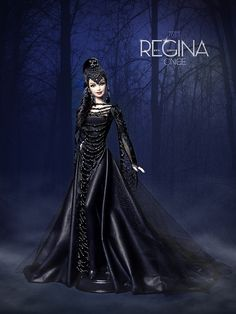 """Regina, evil queen of the series """"Once Upon a Time"""", with exclusive design Refugio Rosa (davidbocci.es/refugiorosa) Tags: david fashion doll time ooak barbie rosa evil queen once regina refugio mattel bocci upon mueca Barbie Gowns, Barbie Dress, Barbie Clothes, Barbie I, Gothic Dolls, Queen Costume, Beautiful Barbie Dolls, Disney Dolls, Barbie Collection"""