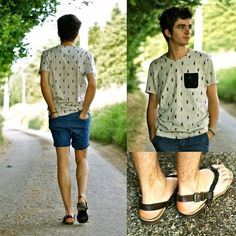 Printed Tee, Lanvin Sandals, H Short