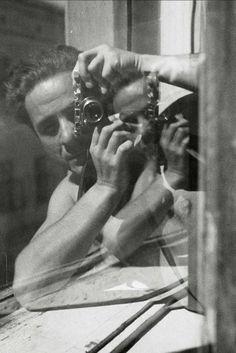 Photographer Witold Chromiński - Autoportrait, ca. 1950