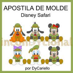 >> Apostila digital com molde do Turma Disney Safari para tecido/feltro.  >> Sem PAP. Apenas o molde.  >> A apostila tem 9,74mb, formato PDF, 65 páginas. Tamanhos 22 e 35 cm! https://www.facebook.com/inconDYcional/photos/a.811942578856722.1073741827.187805041270482/887770067940639/?type=3&theater