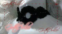 Neo Goth Black Flower Choker Metal  OOAK by GothDollie on Etsy, $17.99