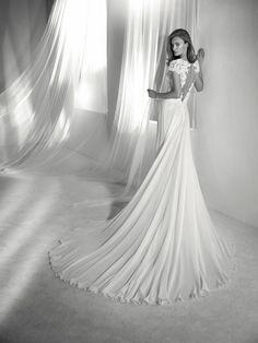 Vestido de novia encaje y tul - Colección 2018 Pronovias