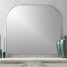 Infinity Silver Mantel Mirror |