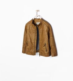 11a3c4e7bae350 CARAMEL OVERDYED FAUX LEATHER TROUSERS Boys Leather Jacket