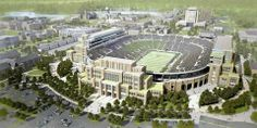 Notre Dame $400 Campus Crossroads.  Project maintains the compactness of campus, while adding classrooms, career center, dining hall, event spaces, rec sports facilities, digital media center, and 4,000  club level seats.    Project is a cool idea with the mix of uses and added density.  Its really too bad the design (assumed to be a client requirement) is so horrendously referential instead of being a contemporary/ modern counterpoint to the historic structure.  Opinions?