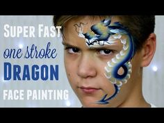 One Stroke Chinese Dragon — Fast & Easy Face Painting Tutorial - YouTube