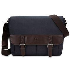 Amazon.com: 13 Inch MacBook Air / Pro Laptop CaseCrown Haverford Messenger Bag (Denim Navy Blue / Brown): Computers & Accessories