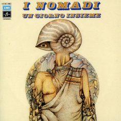 Augusto Daolio 1973 I Nomadi - Un Giorno Insieme [Columbia 3C064-17880 / EMI 724383117321 / EMI 094639559725] #albumcover #fantasy #Prog-Rock