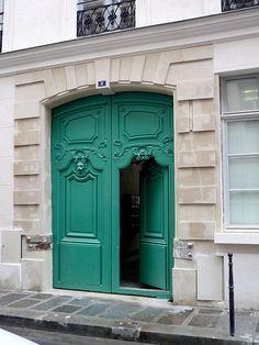 Door, Paris, France,