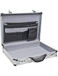 Aluminum Laptop Briefcase Silver 17 Business Lock Attache Case Brief Pockets for sale online Rolling Briefcase, Laptop Briefcase, Briefcase For Men, Business Briefcase, Silver Bags, Money Clip Wallet, Business Card Holders, Backpack Bags, Purses