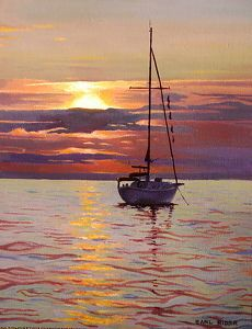 Earl Rider - Lake Michigan Sunset- - Painting entry - March 2014 | BoldBrush Painting Competition