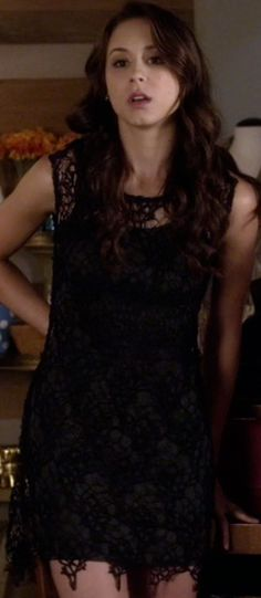 Spencer Hastings's Black Lace Dress from Pretty Little Liars