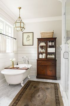 Beautiful Outstanding Images Farmhouse Bathroom Clawfoot Tub, Each tub is a bit different, so finding feet that in fact fit a specific tub is difficult. Our tub had a good deal of little bumps f . Bad Inspiration, Bathroom Inspiration, Bathroom Styling, Bathroom Interior Design, Country Bathroom Design Ideas, Traditional Bathroom Design Ideas, Bathroom Storage, Traditional Small Bathrooms, Bathroom Lighting
