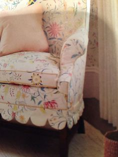 Scallop detail slipcover-The Designer's Attic