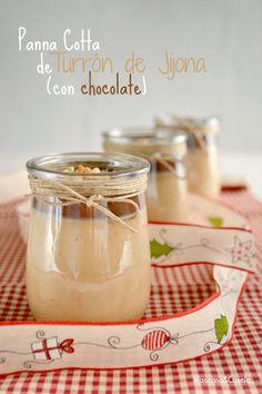 Manzana&Canela : Panna Cotta de turrón de Jijona con chocolate (y u...