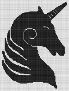 CROCHET+PATTERN+GRAPH+UNICORN+SILHOUETTE+AFGHAN+BLANKET+E-MAILED.PDF