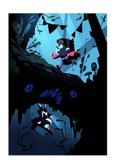 "Here's an exclusive look at new images from the Gravity Falls Art Show. ""Untitled"" by Josh Parpan."