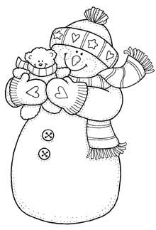 Christmas Coloring Pages - Snowman Christmas Coloring Pages, Coloring Book Pages, Christmas Colors, Christmas Art, Christmas Landscape, Embroidery Patterns, Hand Embroidery, Christmas Embroidery