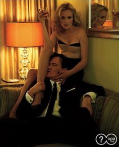 Quentin Tarantino and Diane Kruger