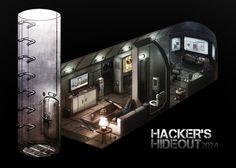 Hacker's Hideout Picture  (2d, architecture, bunker)