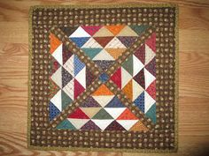 """This quilt finished at 16"""" x 16""""."""
