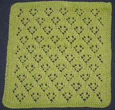 Quatrefoil Knitting Pattern : LACE KNITTING #16 Quatrefoil Eyelet stitch. Easy! Great for baby blanket ...