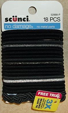 Scunci No Damage No Metal Parts 18 Pcs 52888p ** Read more  at the image link. (This is an Amazon affiliate link and I receive a commission for the sales and I receive a commission for the sales)