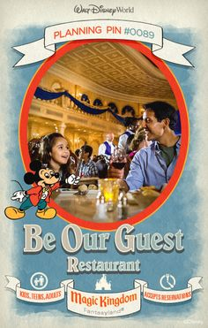 Walt Disney World Planning Pins: Step inside the Beast's enchanted castle for a delicious quick-service lunch or a delightful sit-down dinner. #tips #tricks #vacation