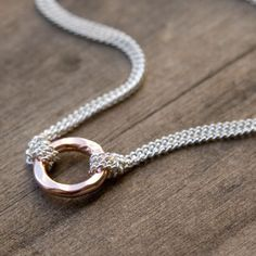 ETERNITY Simple & Modern Hammered Tiny Pink Rose Gold by burnish, $35.00