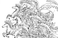 Coloring Book Online for Adults Luxury 10 Intricate Adult Coloring Books to Help You De Stress Horse Coloring Pages, Adult Coloring Book Pages, Printable Adult Coloring Pages, Colouring Pages, Coloring Books, Coloring Worksheets, Coloring Pages For Grown Ups, Book Images, Art Plastique