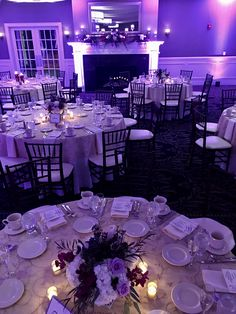 Color inspiration for your perfect day #wedding #colors #tablescape #reception #purple #manchestercountryclub #manchester_cc