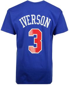 126cb1e2d62 Mitchell & Ness Men Allen Iverson Philadelphia 76ers Hardwood Classic  Player T-Shirt