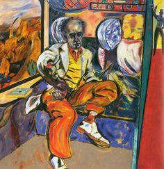 The Jewish Rider (1985), oil on canvas by R.B. Kitaj