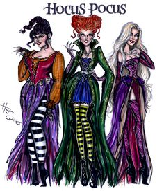 The Sanderson Sisters! #HocusPocus by Hayden Williams| Be Inspirational ❥|Mz. Manerz: Being well dressed is a beautiful form of confidence, happiness & politeness