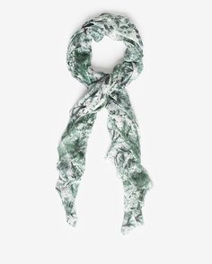 Stevie Howell Wool/Silk Blend Printed Scarf