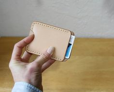 Push Up Pocket Wallet // Handstitched Vegetable Tanned by infusion