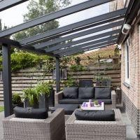 Pergola For Small Backyard Patio Pergola, Pergola With Roof, Patio Roof, Outdoor Landscaping, Backyard Patio, Pergola Kits, Garden Canopy, Patio Canopy, Garden Gazebo