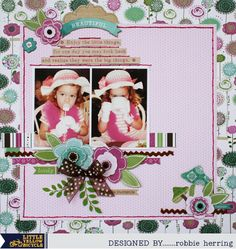 Fern and Forest Girl Layout featuring Robbie Herring. #layout, #Girl, #mylyb