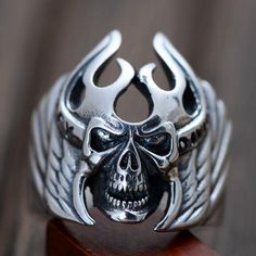 This sterling silver skull armor ring is just perfect for any biker style or any party look. Just look different in the crowd with this skull ring.  Shop this ring here: https://www.jewelry1000.com/Mens-Sterling-Silver-Jewelry/Mens-Silver-Rings/Mens-Sterling-Silver-Skull-Armor-Ring  #jewelry1000 #silverring #bikerring #ringformen