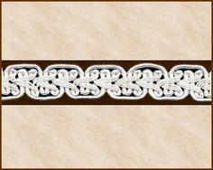 """Passementerie Braid Fabric Trim, """"Braid of Frankenstein"""", 5/8 inch"""