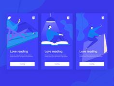 some splashpages  of reading