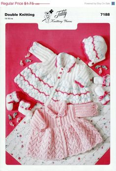 Baby DK 8ply Light Worsted Matinee Jacket & by avintagescot