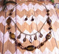 Gemstone double strand necklace and by HeavenlyTreasuresLG on Etsy,