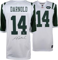 Sam Darnold New York Jets Autographed White Nike Game Jersey   sportsmemorabilia  autograph  football 21e1d89af