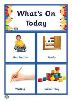 What's On Today? Whats Today, Math Writing, Anzac Day, Australian Curriculum, Indoor Play, Teaching Resources, Schedule, Back To School, Routine